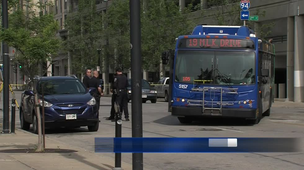 Woman seriously injured after being hit by MCTS bus in downtown Milwaukee