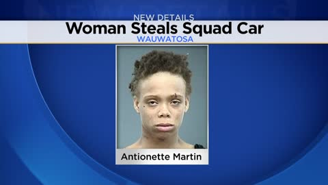 Woman taken into custody after allegedly stealing police squad car in Wauwatosa