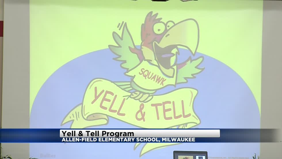 """Yell & Tell"" program teaches kids important message at Milwaukee elementary school"
