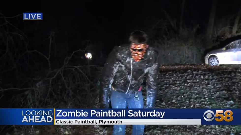 "Halloween at Plymouth's ""Classic Paintball"" features zombies..."