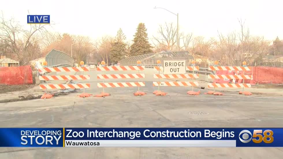 Zoo interchange work to start Sunday night