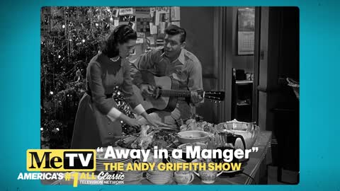 Andy and Ellie sing ''Away in a Manger'' on The Andy Griffith Show