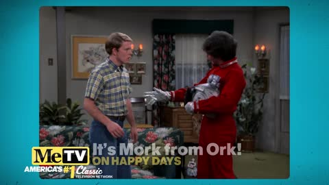 It's Mork from Ork on Happy Days!
