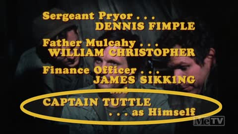 M*A*S*H credited Hawkeye's imaginary friend ''Captain Tuttle'' as himself