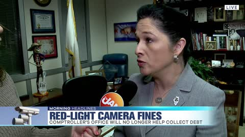 Comptroller Halting Red-Light Ticket Collections
