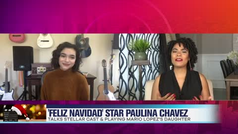 Paulina Chavez Dishes on 'Feliz NaviDAD' & Working With Mario Lopez